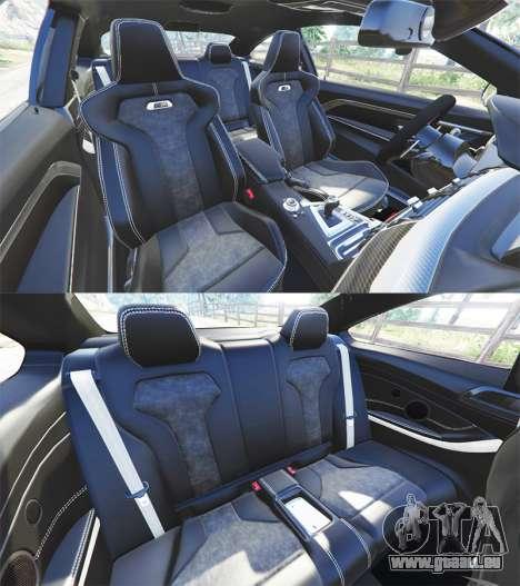 GTA 5 BMW M4 GTS droite vue latérale