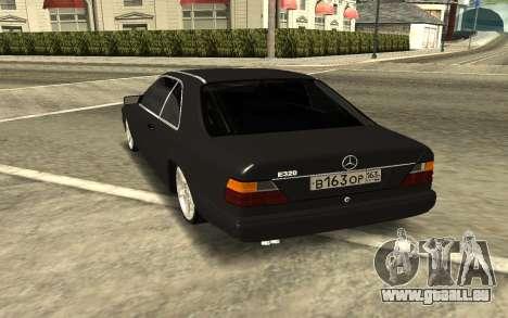 Mercedes-Benz Е320 für GTA San Andreas zurück linke Ansicht