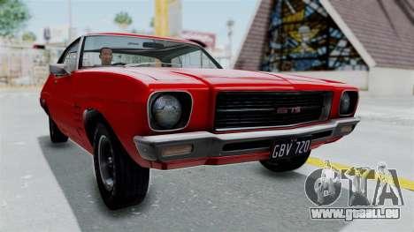 Holden Monaro GTS 1971 AU Plate HQLM für GTA San Andreas