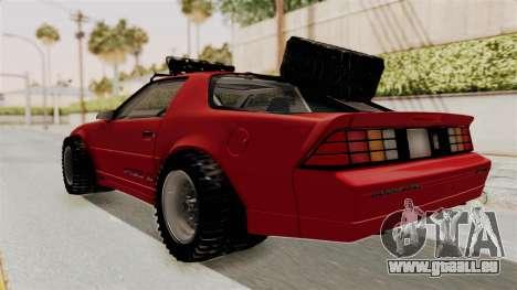 Chevrolet Camaro 1990 IROC-Z Rusty Rebel für GTA San Andreas zurück linke Ansicht