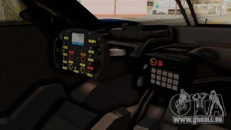 Ford GT 2016 LM pour GTA San Andreas vue intérieure