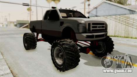 Ford F-350 Super Duty Monster Truck für GTA San Andreas linke Ansicht