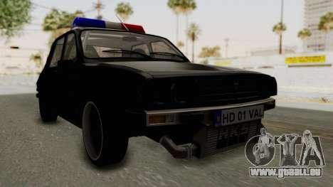 Dacia 1310 TX Turbo Police pour GTA San Andreas vue de droite