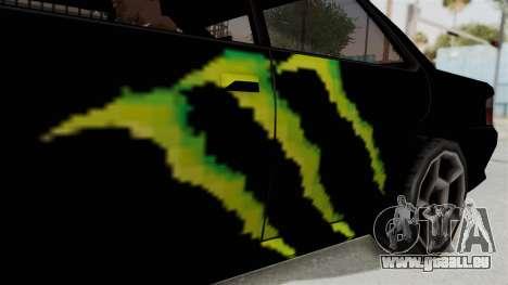 Monster Sultan für GTA San Andreas Rückansicht