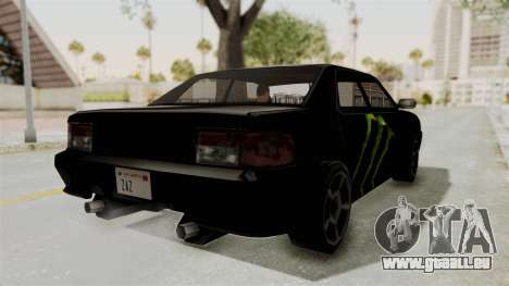 Monster Sultan pour GTA San Andreas sur la vue arrière gauche