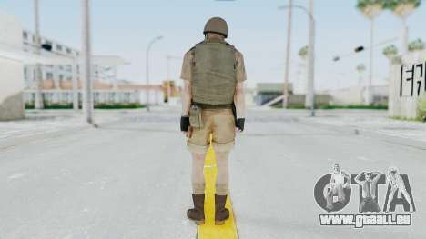 MGSV Phantom Pain CFA Vest v2 für GTA San Andreas dritten Screenshot