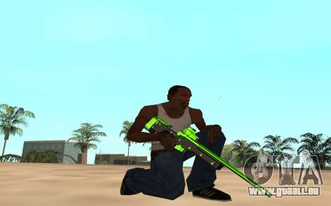 Green chrome weapon pack pour GTA San Andreas sixième écran
