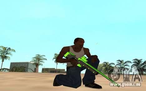 Green chrome weapon pack für GTA San Andreas sechsten Screenshot