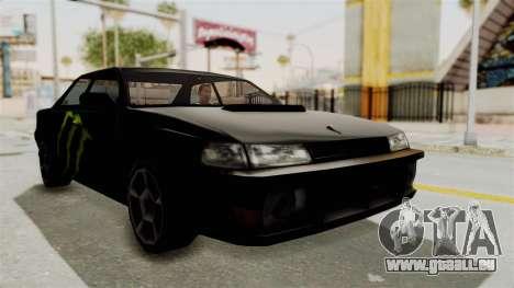 Monster Sultan pour GTA San Andreas vue de droite