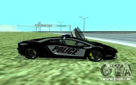 Lamborghini Reventon Police pour GTA San Andreas laissé vue