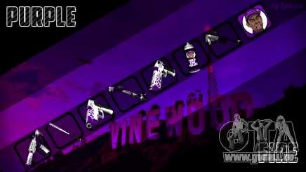 Purple fire weapon pack für GTA San Andreas