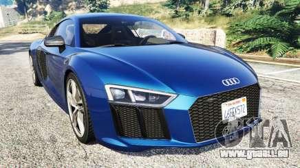 Audi R8 V10 Plus 2015 pour GTA 5