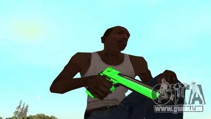 Green chrome weapon pack für GTA San Andreas