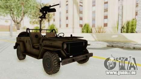 MGSV Jeep pour GTA San Andreas vue de droite