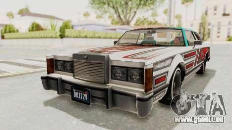 GTA 5 Dundreary Virgo Classic Custom v1 pour GTA San Andreas vue intérieure