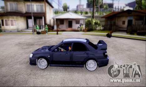 Subaru impreza WRX STi LP400 v2 pour GTA San Andreas vue de droite