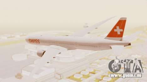 Boeing 777-300ER Swiss International Air Lines für GTA San Andreas linke Ansicht