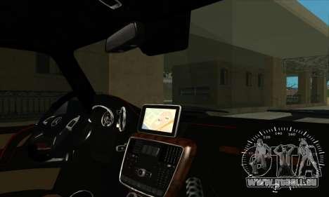 Mercedes G63 Biturbo für GTA San Andreas Innen