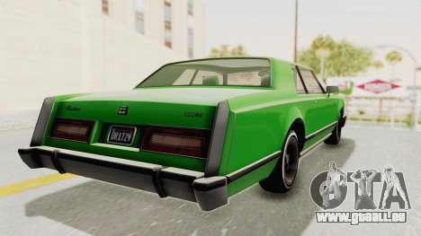 GTA 5 Dundreary Virgo Classic Custom v1 pour GTA San Andreas laissé vue