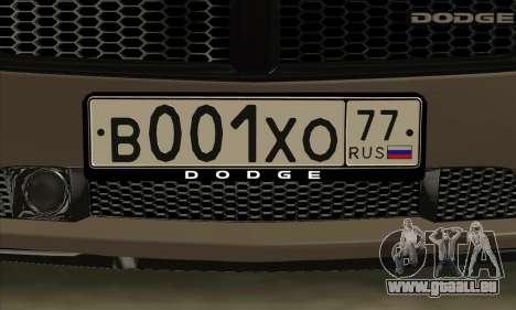 Dodge Charger pour GTA San Andreas vue intérieure