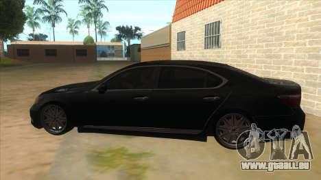 Lexus LS600HL 2008 pour GTA San Andreas laissé vue