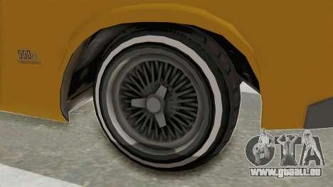 GTA 5 Declasse Sabre GT2 A IVF pour GTA San Andreas vue arrière