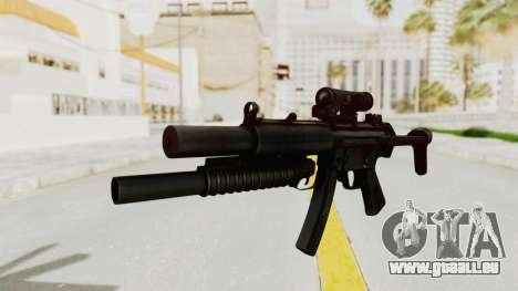 MP5SD with Grenade Launcher für GTA San Andreas