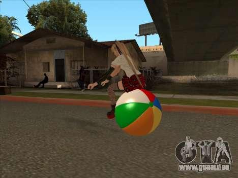 Beachball pour GTA San Andreas vue arrière