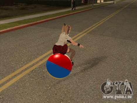 Beachball pour GTA San Andreas sur la vue arrière gauche