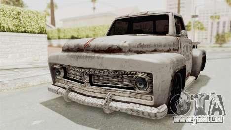 GTA 5 Slamvan Stock PJ2 für GTA San Andreas zurück linke Ansicht