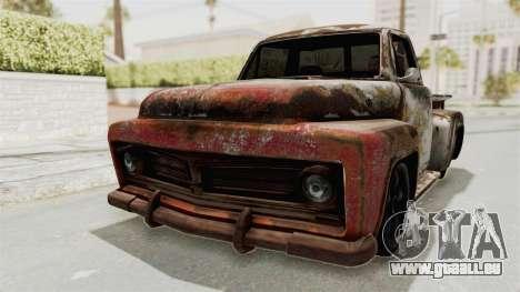 GTA 5 Slamvan Stock PJ2 für GTA San Andreas Rückansicht