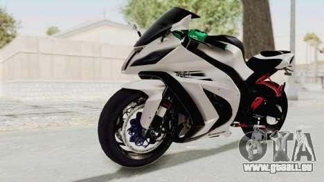 Kawasaki Ninja ZX-10R Modification für GTA San Andreas rechten Ansicht