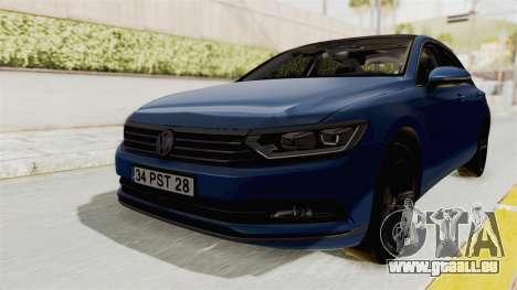 Volkswagen Passat B8 2016 Highline IVF für GTA San Andreas rechten Ansicht