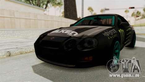 Toyota Celica GT Drift Monster Energy Falken für GTA San Andreas rechten Ansicht