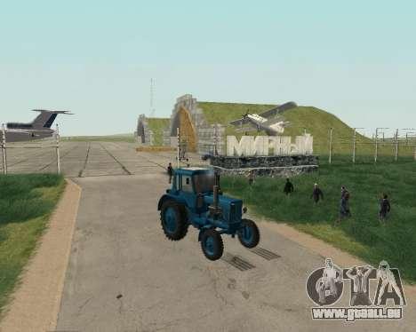 MTZ 80 Biélorussie pour GTA San Andreas vue de droite