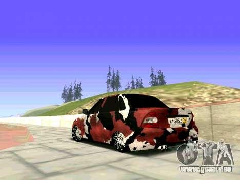 Lada Priora Camouflage pour GTA San Andreas laissé vue