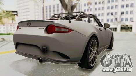 Mazda MX-5 Cup 2015 v2.0 pour GTA San Andreas sur la vue arrière gauche