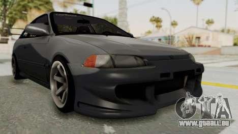 Honda Civic 1995 FnF pour GTA San Andreas vue de droite