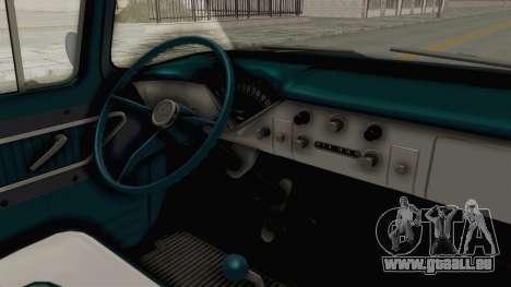 Chevrolet Apache 1958 pour GTA San Andreas vue intérieure