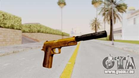 Silenced M1911 Gold für GTA San Andreas zweiten Screenshot