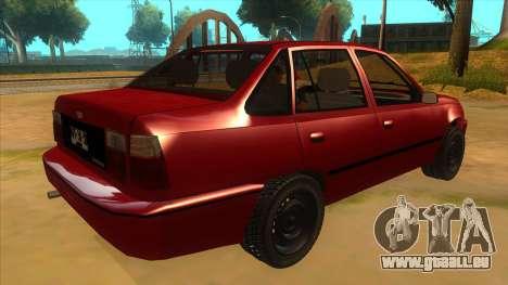Daewoo Racer GTI pour GTA San Andreas vue de droite