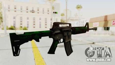 HD M4 v4 pour GTA San Andreas troisième écran