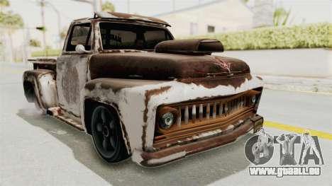 GTA 5 Slamvan Lowrider PJ2 pour GTA San Andreas vue de côté