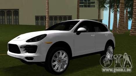 Porsche Cayenne 2012 pour une vue GTA Vice City de l'intérieur