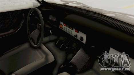 Dacia 1310 TX 1986 pour GTA San Andreas vue intérieure