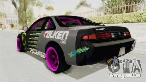 Nissan Silvia S14 Drift Monster Energy Falken pour GTA San Andreas laissé vue