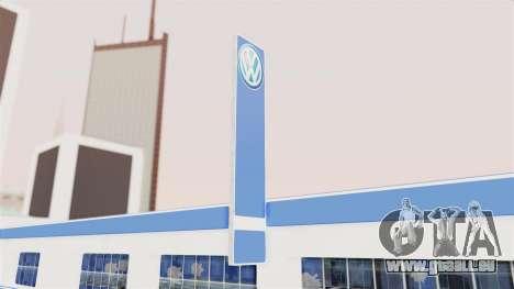 Volkswagen Showroom in San Fierro pour GTA San Andreas troisième écran