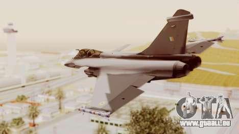 Dassault Rafale Indian Air Force pour GTA San Andreas laissé vue