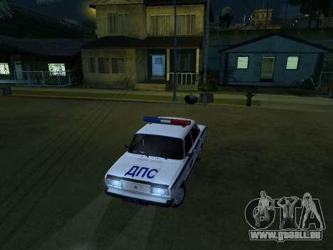 VAZ 2107 DPS pour GTA San Andreas vue arrière