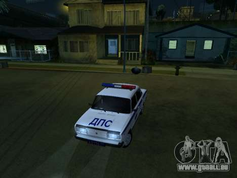 VAZ 2107 DPS für GTA San Andreas Rückansicht